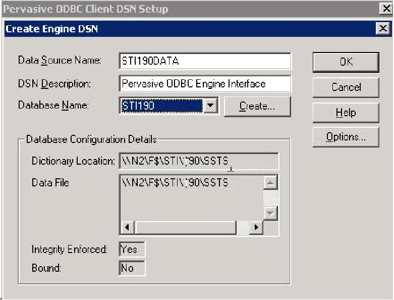 Create Engine DSN